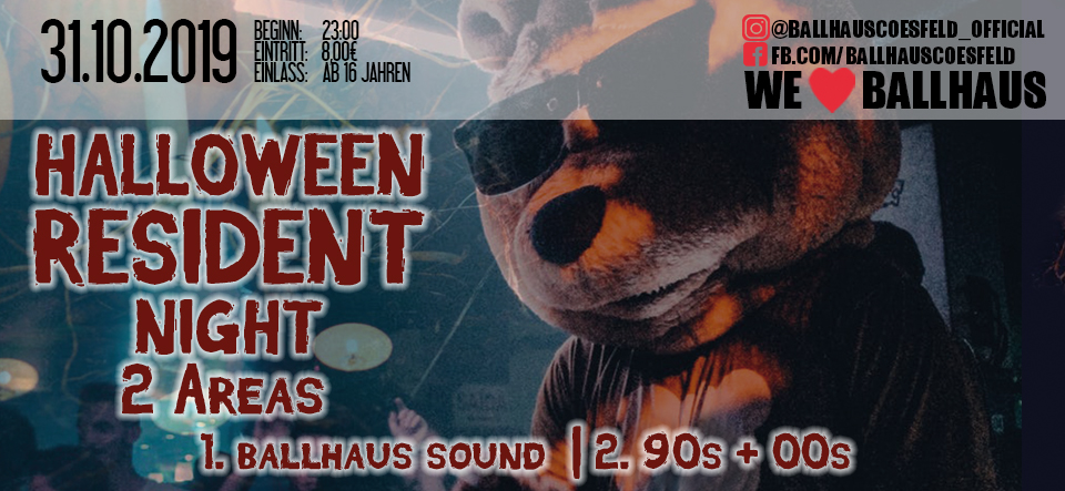HALLOWEEN Resident Night • 16+
